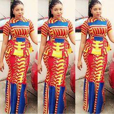Creative Ankara Skirt and Blouse Style http://www.dezangozone.com/2016/05/creative-ankara-skirt-and-blouse-style_25.html