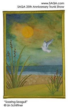 Art quilt by Lin Schiffner #artquilts #SAQA