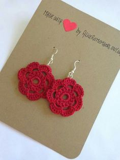 Crochet Jewelry Etsy Inspiration Ideas For 2019 Crochet Earrings Pattern, Crochet Jewelry Patterns, Crochet Bracelet, Crochet Accessories, Crochet Jewellery, Love Crochet, Crochet Gifts, Diy Crochet, Crochet Flowers