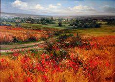 Представяме ви прелестните цветни пейзажи, дело на художничката Олга Одалчук (Ольга Одальчук) от Русия. Нейните творби бързо ни пренасят в красиви полета, обсипани с много цветя, зеленина и свежест.