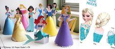 Poupées Disney en 3D à faire soi-même - La reine des Neiges
