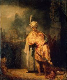 rembrandt the reconciliation of david and absalom 1642. visualizing from minds eye. mastering materiality an deffects of textures as Rubens or Velazquez