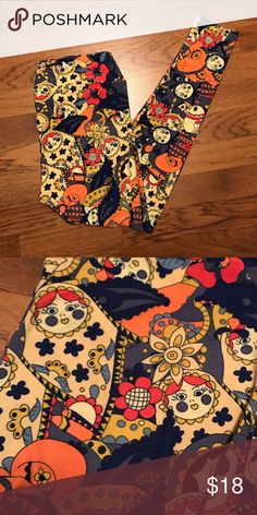 fe45088163d8ef Lularoe BNWT TC Leggings - Russian Dolls Floral Brand new with tags Lularoe  TC leggings. Vibrant colors! Made in Vietnam. LuLaRoe Pants Leggings