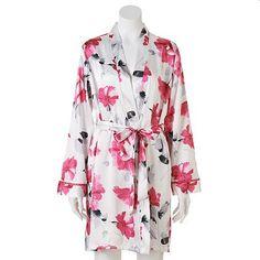 Apt. 9® Satin Wrap Robe - Women's