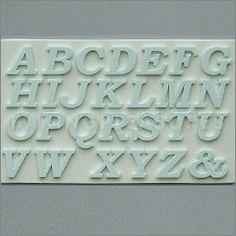 Upper Case Alphabet Sugarcraft Silicone Mould