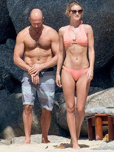 Hot Couple Alert! Rosie Huntington-Whiteley and Jason Statham Show Off Their Beach Bodies in Thailand