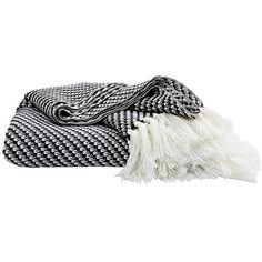 Twill Throw Grey/White Target Australia ($29) ❤ liked on Polyvore featuring home, bed & bath, bedding, blankets, grey bedding, patterned bedding, white throw, grey blanket and grey throw blanket