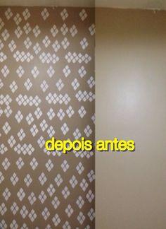 Faça vc mesmo decorando parede com stencil