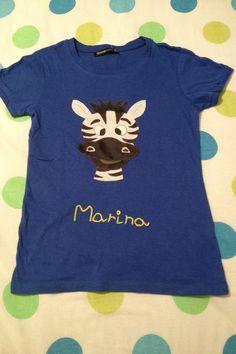 Camiseta de cebra personalizada