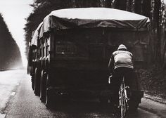 Winter Training:  Merckx famously professed that after a night of sinning, the body must be cleansed. He obviously meant this figuratively, not literally, because those mud guards on his bike aren't going to take a big bite out of whatever that lorry has to offer him by way of a Flandrian facial.