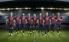 309S. Barcelona and Barcelona B players presenting the new home kit for next Embedded image permalink