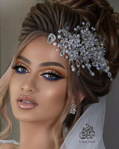 Hairstyle For Wedding Day, Romantic Wedding Hair, Bridal Hair Updo, Bridal Hair And Makeup, Wedding Makeup, Hair Makeup, Sexy Makeup, Beauty Makeup, Makeup Looks
