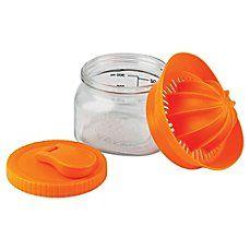 image of Barbuzzo Glass 10 oz. Mason Juicer in Orange