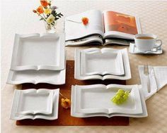 book dishes I want a set!!