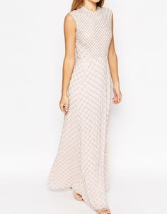 Image 3 of Needle & Thread Circle Mesh Embellished Maxi Dress