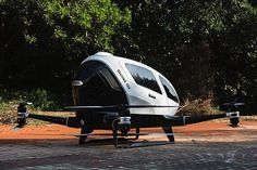 """As might be expected, there are a lot of drones on display this week at CES. Almost all of them have one thing in common, however: people can't ride in them. We say """"almost all,"""" as there is one exception. Ehang's 184 AAV (Autonomous Aerial Vehicle) is designed to carry a single human passenger."""