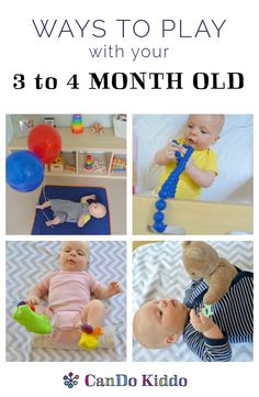 Activities and Ideas to play with 3 to 4 month old baby