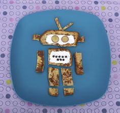 Little Nummies » Kids Breakfast: French Toast Robot - need to make this for K!