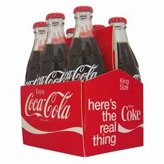 If your house only has room for one last collectible - get this one. It's a tiny set of 3 inch tall bottles in a 6 pack carton! Check out more replica/minis at http://www.2collectcola.com/cocacola/bottlereplica.html