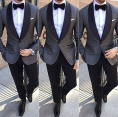 Image result for grey tuxedo with black lapel