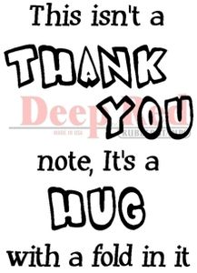 Thank You Hug Rubber Stamp - Deep Red Stamps: A Cherry On Top