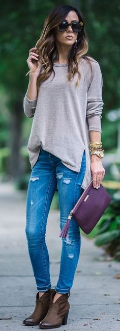 10+ Stylish Jeans Outfit For This Year - Fashion Week