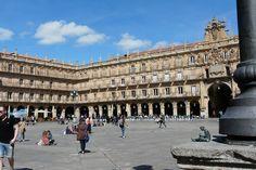 #Arte en la Plaza Mayor de Salamanca que #EsculturasMorla tuvo el placer de visitar junto con Lazarillo #ArtesaníaEnBronce