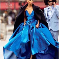 Amazing 💙💙💙 Well done @voguearabia 👏🏼👏🏼👏🏼 #editorial #voguearabia #bluegown #fashiondiaries #fashion #streetstyle