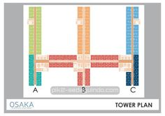 Tower plan apartemen Osaka Riverview PIK2 Jakarta #sedayuindocity