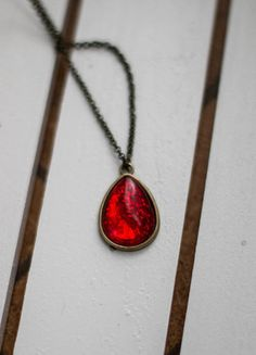 Kup mój przedmiot na #vintedpl http://www.vinted.pl/akcesoria/bizuteria/10712815-rubinowy-czerwony-naszyjnik-vintage
