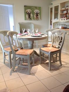 Style Country Kitchen Table And Chairs White Set Tables