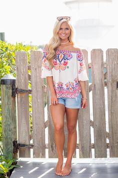 Brighter Than The Sun Off The Shoulder Blouse