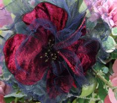 Just Lilla: Velvet blossom, tutorial - the other versions are based on this one