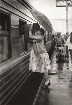 the last kiss before he's off to war...
