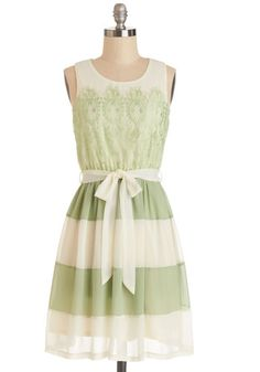 Early to Sunrise Dress in Fern #modcloth *Love how light this dress is ... Can't wait for spring!