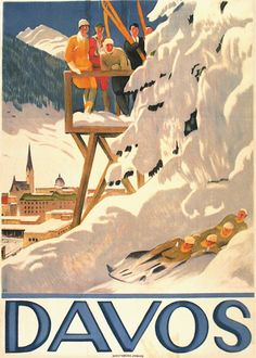 Vintage Poster Ad 'Davos' by Emil Cardinaux 1918