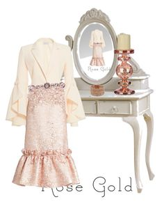 """Victorian Rose"" by swgdavie on Polyvore featuring Alberta Ferretti, Osman, Givenchy, Kenneth Cole, rosegold, victorian and Vanity"