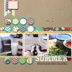 """wonderful summer.  Love the circles""  I really like how this layout comes together. Simple and calming."