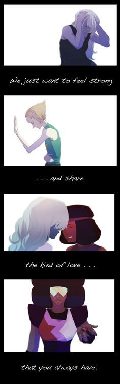 """We just want to feel strong... and share the kind of love that you always have."" 