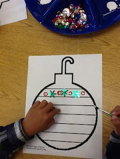Pattern Ornament {I did this with my PreK class many years ago. Festive and great learning}