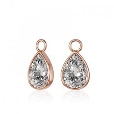 KAGI Rose Teardrop Ear Charms Red Words, Charms, Jewelry Design, Gems, Jewels, Drop Earrings, Jewellery, Crystals, Pendant