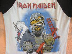 Vintage Iron Maiden 1985 Concert T Shirt Vintage Concert T Shirts, Concert Shirts, Vintage Iron, Iron Maiden, California, The Originals, Mens Tops, Concert Tees