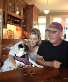 Billy and girlfriend Alexis Roderick adopt Rosie, a 4 year-old Pug, from the North Shore Animal League America.