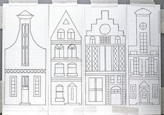 Dutch Canal House Pattern by gingerbread_snowflakes, via Flickr
