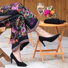 Sole Bliss - Pandora Black Suede - Best Black High Heels for Bunions Best Shoes For Bunions, Bunion Shoes, Court Heels, Best Black, Clogs Shoes, Black High Heels, Wide Feet, Leather Sandals, Black Suede