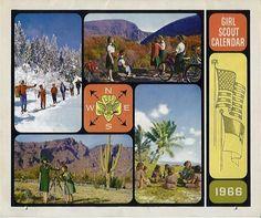 Girl Scout 1966 calendar