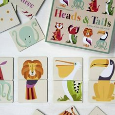 Animal Puzzle Heads And Tails Game Stocking Filler