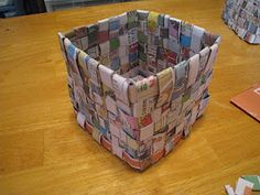 Crafts 4 Camp: Newspaper Basket When there's nothing left to do.....