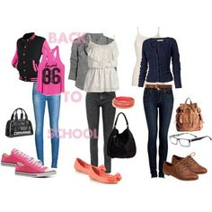 School Outfits for Teens | Cute Outfits For Teens | Back to school outfits. I only like the second and third one.