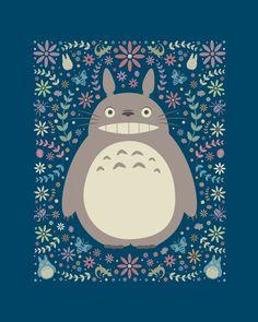fleurs autour ? Totoro